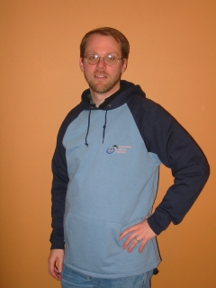 mens dual colour blue hooded jacket